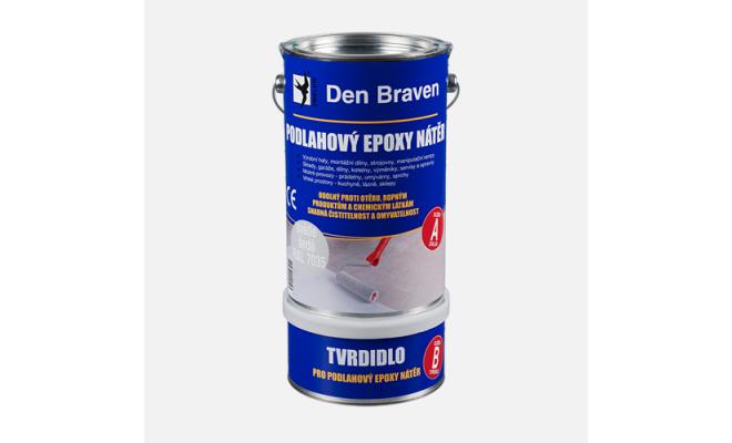 Podlahový epoxy nátěr, sada plechovek 5 + 1 kg, světle šedý RAL 7035