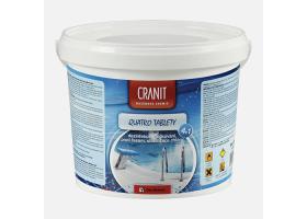 Cranit Quatro tablety - dezinfekce, proti řasám, vločkování, stabilizace, kbelík, 2,4 kg
