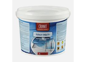 Cranit Triplex tablety - dezinfekce, proti řasám, vločkování, kbelík, 2,4 kg