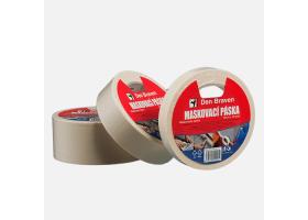 Maskovací krepová páska 80 °C, 25 mm x 50 m