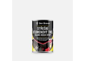 Střešní bitumenový tmel DenBit AQUA STOP, plechovka 1 kg, černý