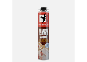THERMO KLEBER WOOD, pistolová dóza 750 ml, žlutá