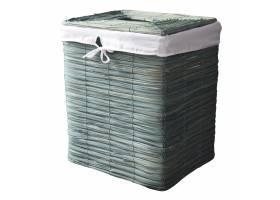Výprodej - 63690 Koš na prádlo proutěný velký šedý 44x36x52 cm