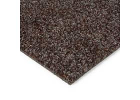 Tmavě hnědá kobercová vnitřní čistící zóna Catrine, FLOMA - délka 100 cm, šířka 100 cm a výška 1,35 cm