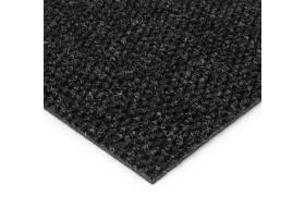 Černá kobercová vnitřní zátěžová čistící zóna Fiona, FLOMA - délka 50 cm, šířka 100 cm a výška 1,1 cm
