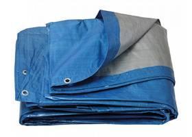 Krycí PE plachta s oky  kulatá 4.1-4.5m/120 modr-stř