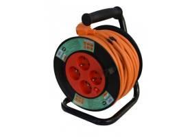 Kabel prodlužovací navíjecí 25m 4zásuvka IP20