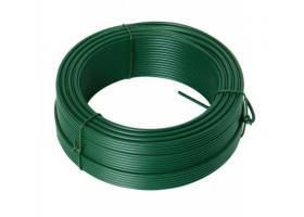 Napínací drát 3. 4mmx78M zelený PVC