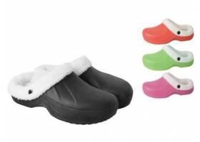 Pantofle gumové zimní dámské vel. 37 mix barev (pár)