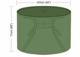 Plachta krycí na kulatý zahradní stůl pr.107x71cm, PE 90g/m2