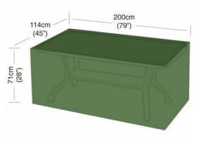 Plachta krycí na obdélníkový 8místný stůl 200x114x71cm, PE 90g/m2