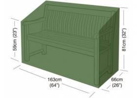 Plachta krycí na zahradní lavičku 163x66x81cm, PE 90g/m2