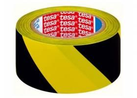 Páska výstražná 50mmx33m ŽL-ČER samolepicí TESA