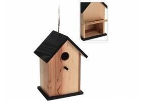 Výprodej - 98373 Budka ptačí zahnizďovací 16x14x17cm dřevěná