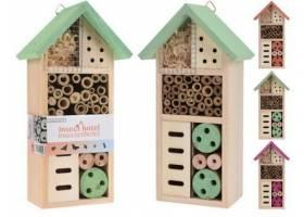 Hotel hmyzí 26x13x8,5xcm dřevěný mix barev