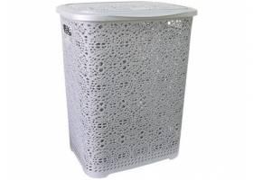 Koš na špinavé prádlo MONAKO 57x45x38cm PH ŠE metalíza